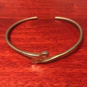 """Anthropologie gold monogram """"E"""" bracelet"""